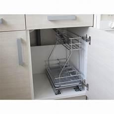 meuble cuisine évier sous 233 vier coulissant d 233 tergents 23 cm cuisines bellissima