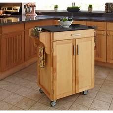 Kitchen Cart Island Walmart by Home Styles Kitchen Cart With Black Granite Top