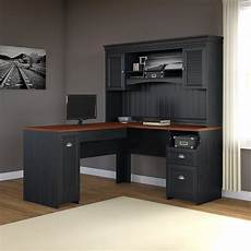 home office furniture l shaped desk amazon com fairview l shaped desk with hutch in antique