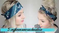 bandana cheveux femme 5 coiffures rapides avec un bandana