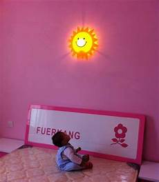 2019 kid room lights cute wall l cartoon smiley sun light children indoor lights decorative