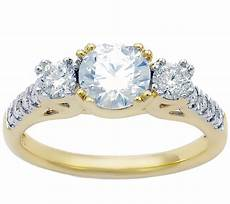 3 stone diamond bridal ring 14k 1 50 cttw by affinity page 1 qvc com