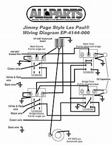 wiring kit for jimmy page les paul allparts com gibson guitars jimmy page guitar