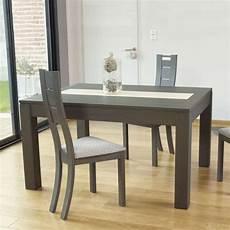 table extensible bois 15517 table contemporaine en bois extensible avec chemin de table en c 233 ramique mrc410 4 pieds