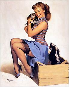 pin up gimme more bananas gil elvgren