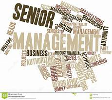 word cloud for senior management stock illustration