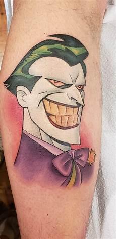 my new animated series style joker tattoo dccomics