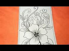 Cara Menggambar Batik Motif Bunga 32