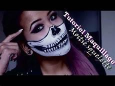 tutoriel moiti 201 squelette half skull makeup