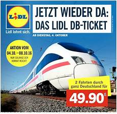Lidl Db Ticket 2 Bahn Tickets Ab 4 12 2017
