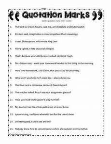 worksheets with quotation marks dialogue worksheets homeschooldressage com