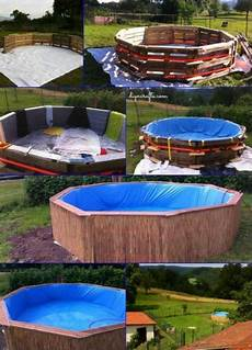 Swimmingpool Aus Paletten - how to make a pallet swimming pool upcycling garten