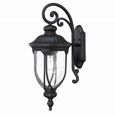 shop acclaim lighting laurens collection wall 1 light outdoor matte black light fixture