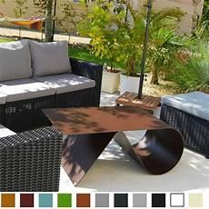 mobilier de jardin design de luxe table basse de jardin de luxe en acier design goupille