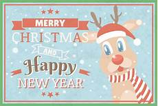 merry and happy new year greeting