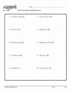 algebra worksheets variables on both sides 8615 solving equations with variables on each side worksheet nidecmege