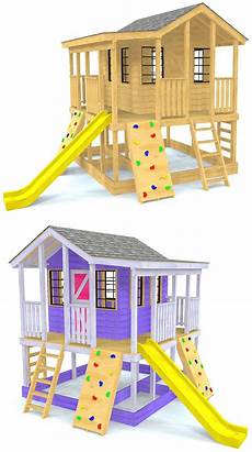 elevated cubby house plans randy s ranch playhouse plan with images play houses