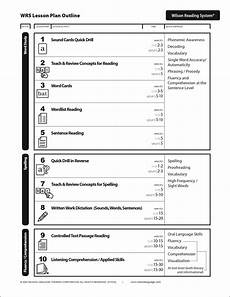 wilson reading system lesson plan wilson reading wilson reading program kindergarten lesson