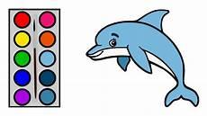 Cara Menggambar Ikan Lumba Lumba Menggambar Dan Mewarnai Ikan