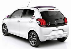 peugeot 108 revealed retractable fabric roof version offered