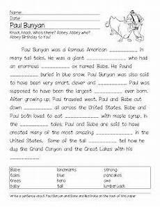 tale lesson 3rd grade 15011 folk tale paul bunyan cloze activity cloze reading tales activities 1st grade reading