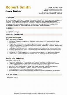 java developer resume sles qwikresume