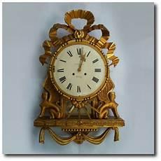 swedish gustavian gilt wood wall clocks interior design