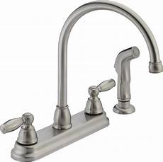 peerless faucets two handle centerset kitchen faucet with