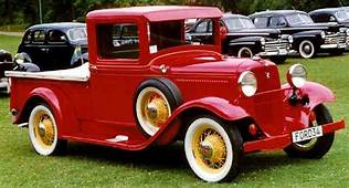 1934 Ford Model 46 Red And Yellow Pick Up Truck Via Lars