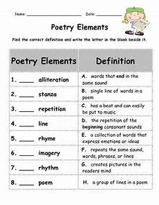 poetry elements worksheets 25266 poetry elements assessment test by wish upon a tpt