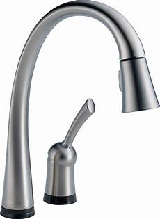 kitchen faucet delta 980t dst pilar single handle pull kitchen faucet with touch2o technology chrome