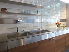 Wall Panels For Kitchen Backsplash Kitchen Rear Wall Has A Backlit Glass Niche With