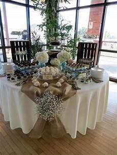 rustic dessert table vintage shabby chic wedding