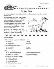 food chain pdf worksheet the food chain education world
