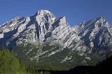 photo of asymmetric anticline and syncline canadian rockies