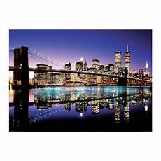 new york poster skyline bridge by