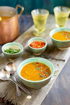 rote linsensuppe indisch indian spiced lentil soup
