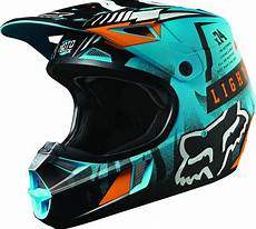 Motocross Helm Mit Brille - fox racing v1 vicious youth motocross helmets blue