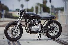 kawasaki kz400 cafe racer by therapy garage bikebound