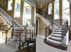 Treppen Renovieren Ideen - stair remodeling before after gallery