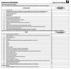 insolvency worksheet 2013 irs form 982 is your friend if you got a 1099 c