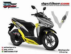 Modifikasi Vario 150 Silver 2018 by Striping Vario 150 2018 Silver Malaysia Livery