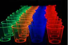 1oz 50 count neon assorted blacklight reactive plastic shot glasses ebay