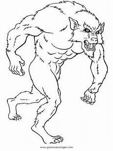 Gratis Malvorlagen Werwolf Werwolf 5 Gratis Malvorlage In Fantasie Ausmalen