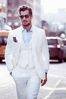 Le Costume Blanc Tendance Chic Mode Masculine