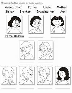 my name is radhika identify my family members preschool family theme english activities for