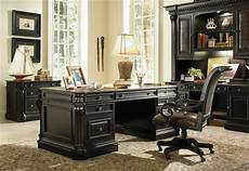 black home office furniture telluride distressed black finish executive desk with