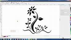 corel draw clipart coreldraw tutorial draw a flower