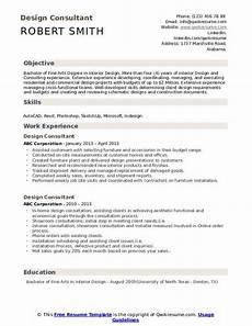 design consultant resume sles qwikresume