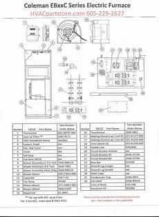 Eb15c Coleman Electric Furnace Parts Hvacpartstore